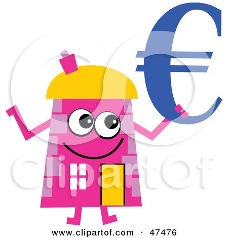 Free Home Architecture Design on Royalty Free  Rf  Clipart Illustration Of A Pink Cartoon House