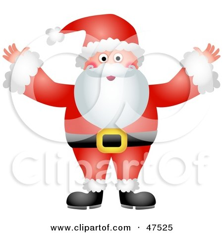 Royalty-Free (RF) Clipart Illustration of a Jolly Father Christmas Santa Claus In His Red Suit by Prawny