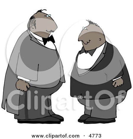 Two Men Wearing Tuxedos at a Wedding Clipart by djart