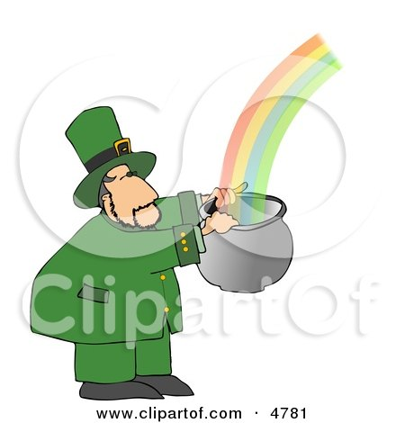 Leprechaun Catching a Rainbow in a Pot Posters, Art Prints