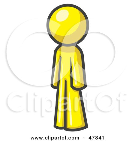 Royalty-Free (RF) Clipart Illustration of a Yellow Design Mascot ...