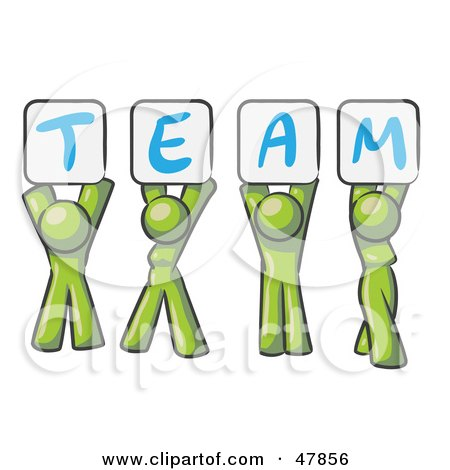 royalty free rf clipart illustration of a green design mascot rh clipartof com team clipart images free clipart teamwork