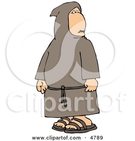 Religious Buddhist Christian Monk Clipart by djart