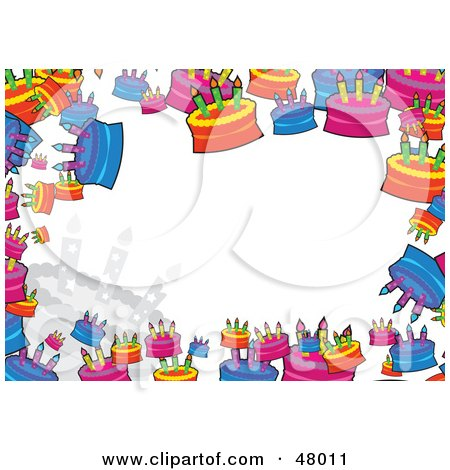 happy birthday border clip art