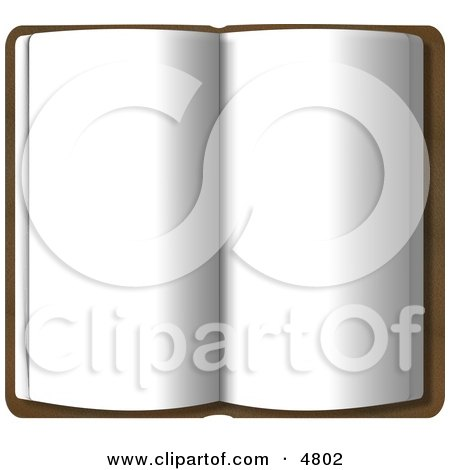 Opened Book with Blank Pages Clipart by djart