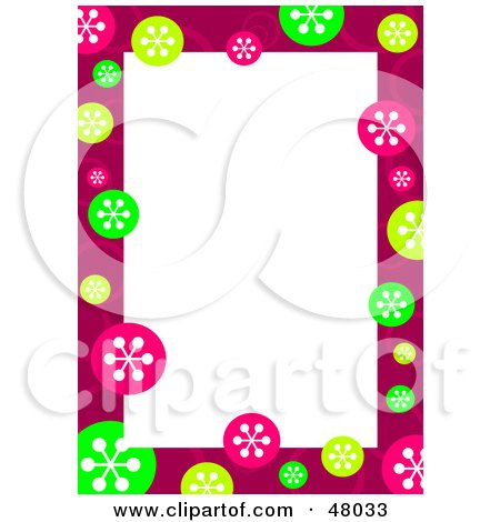royalty free rf clipart illustration of a stationery border of rh clipartof com free blue snowflake border clipart