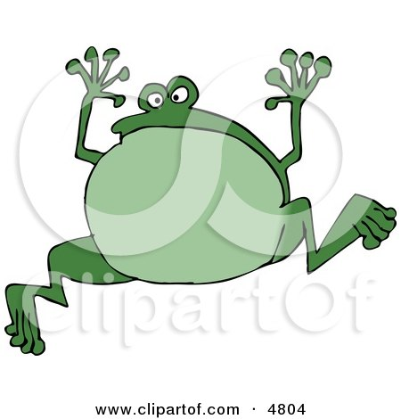 Green Jumping Frog Posters, Art Prints