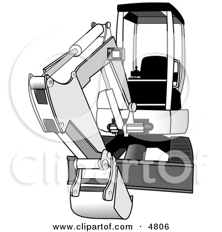 Bobcat Compact/Mini Hydraulic Excavator Clipart by Dennis Cox
