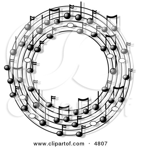 Ring or Circle of Musical Notes Clipart by djart