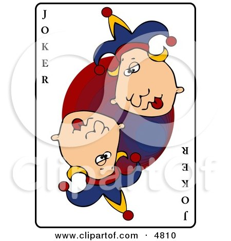 Clipart of the joker playing card.
