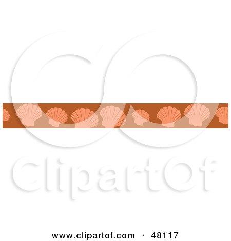 Royalty-Free (RF) Clipart Illustration of a Border Of Scallops On Orange by Prawny