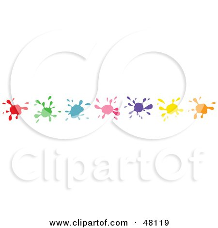 Royalty-Free (RF) Clipart Illustration of a Border Of Colorful Splats by Prawny