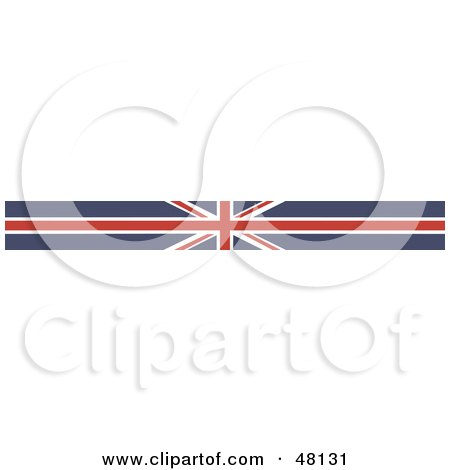 Royalty-Free (RF) Clipart Illustration of a Border Of A Union Jack Flag by Prawny