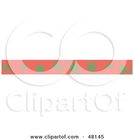 Royalty-Free (RF) Clipart Illustration of a Border Of Beach Pails On Pink by Prawny