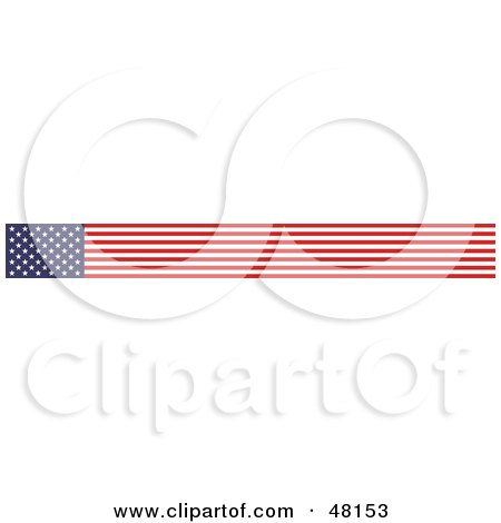 Royalty-Free (RF) Clipart Illustration of a Border Of An American Flag by Prawny