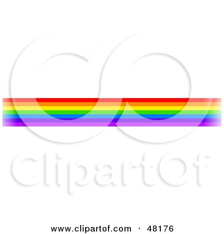 Royalty-Free (RF) Clipart Illustration of a Border Of Rainbow Lines by Prawny