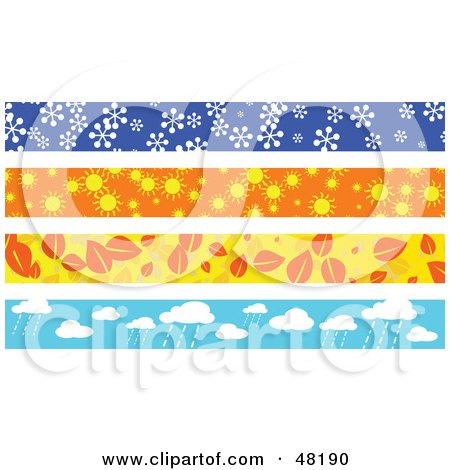 Royalty-Free (RF) Clipart Illustration of a Digital Collage Of Seasonal Borders by Prawny
