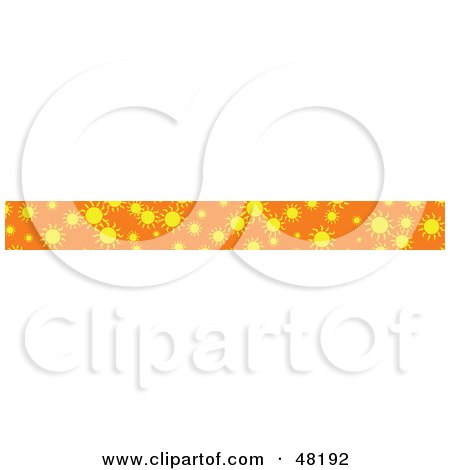 Royalty-Free (RF) Clipart Illustration of a Border Of Summer Suns by Prawny