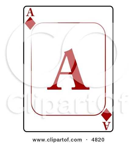 A/Ace of Diamonds Playing Card Posters, Art Prints