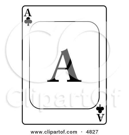 A/Ace of Clubs Playing Card Clipart by djart
