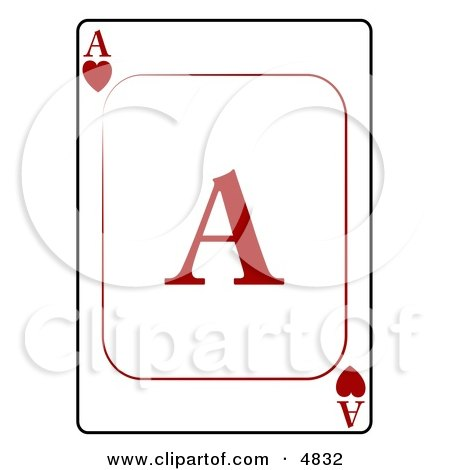 A/Ace of Hearts Playing Card Posters, Art Prints