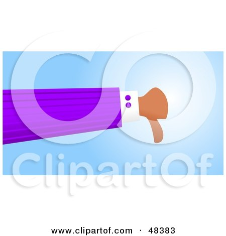 Royalty-Free (RF) Clipart Illustration of a Handy Hand Giving The Thumbs Down by Prawny