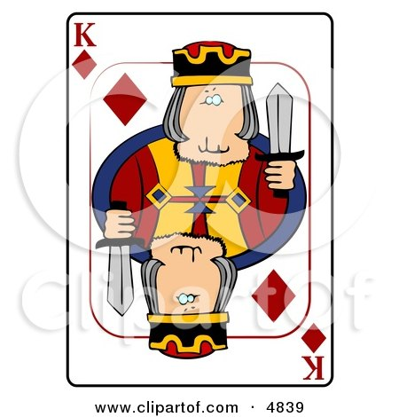 K/King of Diamonds Playing Card Clipart by djart