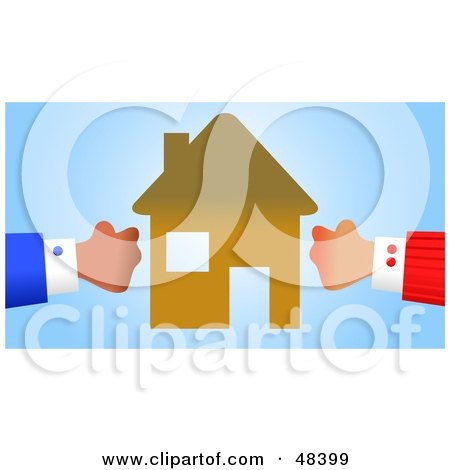 Royalty-Free (RF) Clipart Illustration of Handy Hands Engaged in a Property Battle by Prawny