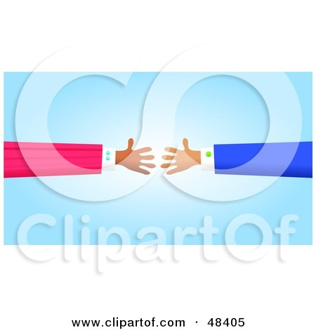 Royalty-Free (RF) Clipart Illustration of Handy Hands Reaching to Shake by Prawny