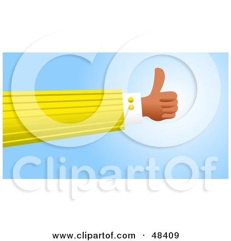 Royalty-Free (RF) Clipart Illustration of a Handy Hand Giving The Thumbs Up by Prawny