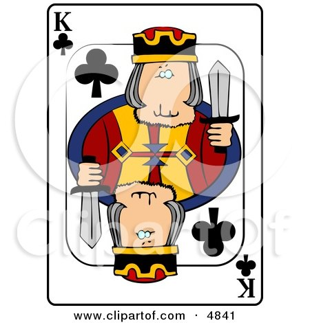 K/King of Clubs Playing Card Clipart by djart