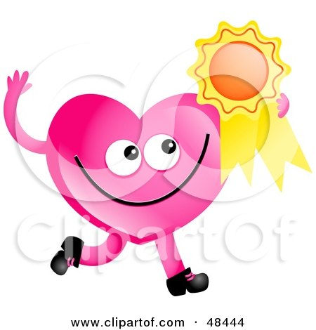 Pink Heart Character Clipart