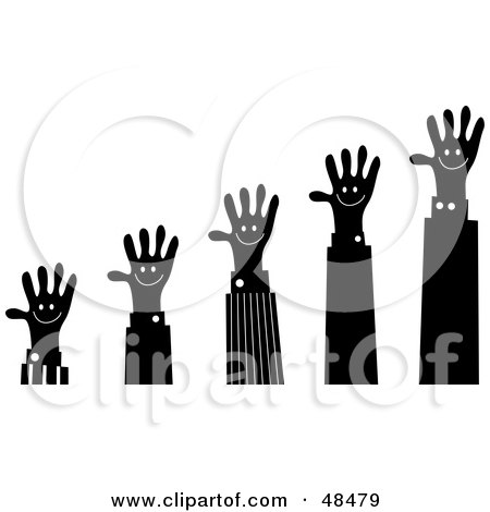 Royalty-Free (RF) Clipart Illustration of a Handy Hand Holding A  by Prawny