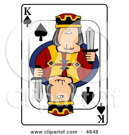 K/King of Spades Playing Card Clipart by djart