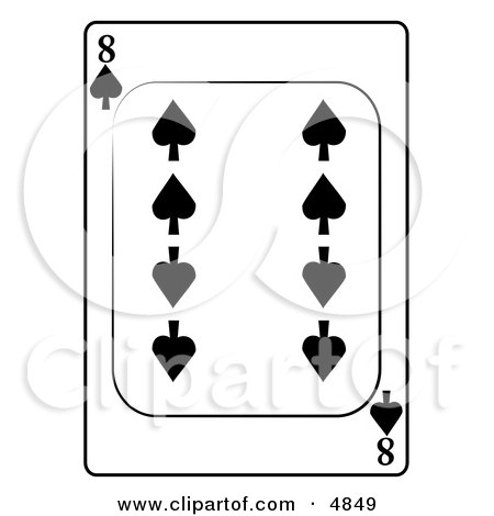 Eight/8 of Spades Playing Card Clipart by djart