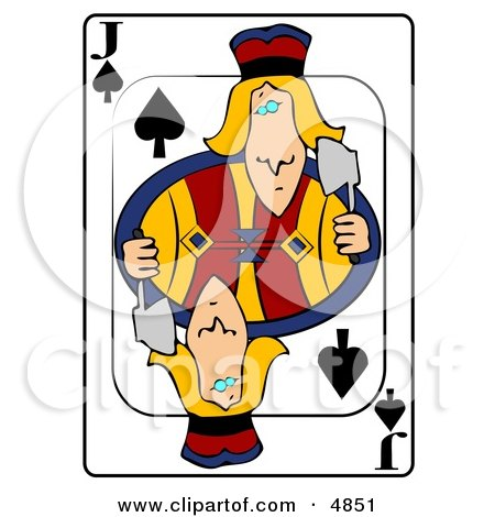 J/Jack of Spades Playing Card Clipart by djart