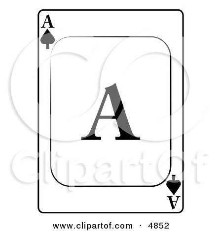 A/Ace of Spades Playing Card Clipart by djart