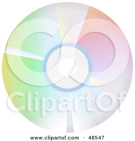 Royalty-Free (RF) Clipart Illustration of a Colorful Reflective CD by Prawny
