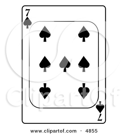Seven/7 of Spades Playing Card Clipart by djart