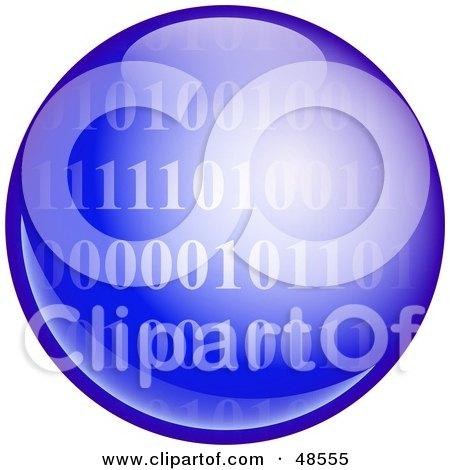 Royalty-Free (RF) Clipart Illustration of a Blue Binary Code Globe by Prawny