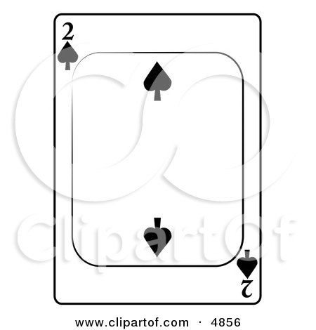 Two/2 of Spades Playing Card Clipart by djart