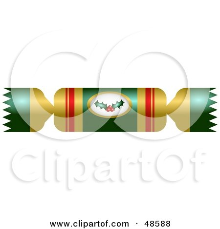 Royalty-Free (RF) Clipart Illustration of Red Christmas Crackers ...
