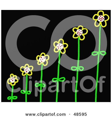 Royalty-Free (RF) Clipart Illustration of Growing Stick Flowers by Prawny