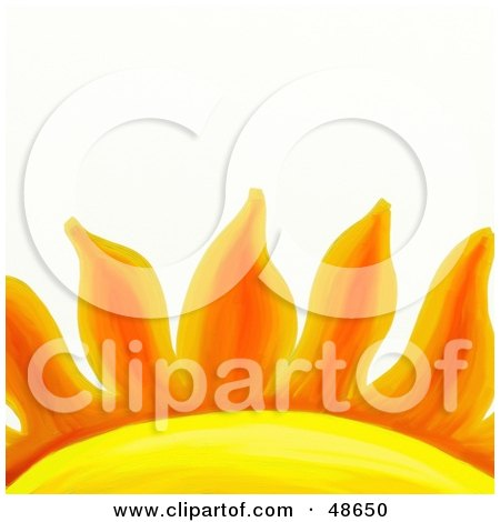 Royalty-Free (RF) Clipart Illustration of a Close Up Of Orange Sun Rays by Prawny