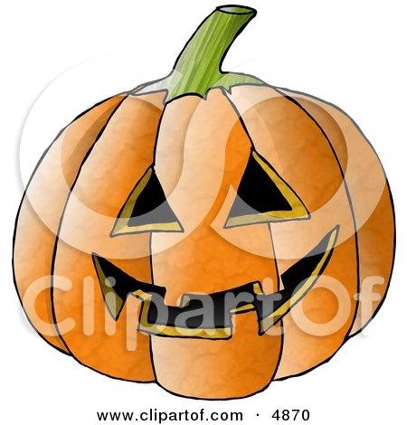 Carved Halloween Pumpkin Face Clipart by djart