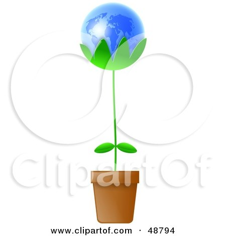royalty  rf clipart  potted plants illustrations