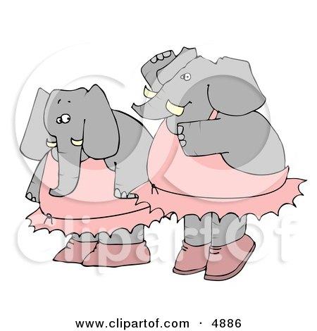 Two Human-like Elephant Ballerina Dancers Posters, Art Prints