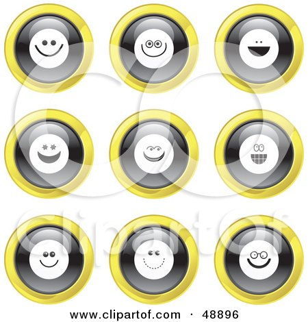 smiley face clip art free. Yellow Smiley Face Icons