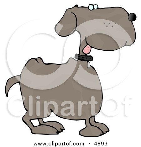 Happy Dog with Tongue Out Clipart by djart