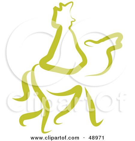 Royalty-Free (RF) Clipart Illustration of a Green Wise Man by Prawny